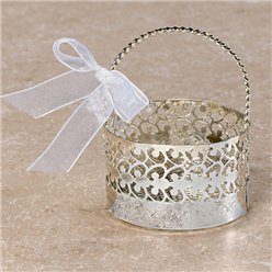 Silver Basket Favour Boxes - 8cm