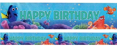 Finding Dory Holographic Foil Banner - 2.7m