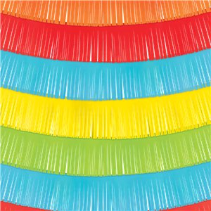 Mexican Fiesta Decorative Fringe Backdrop