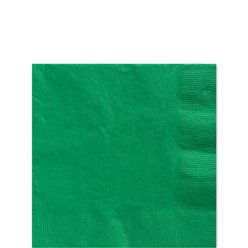 Green Beverage Napkins - 25cm Square 2ply Paper