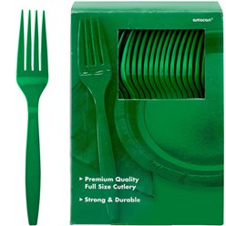 Green Reusable Forks - 100pk