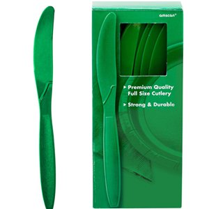 Green Reusable Knives - 100pk