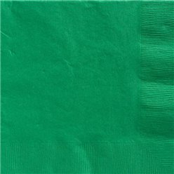 Green Dinner Napkins - 40cm Square 2ply Paper
