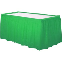 Green Plastic Tableskirt - 73cm x 4.2m