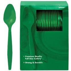 Green Reusable Spoons - 100pk