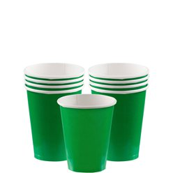 Green Cups - 266ml Paper Party Cups