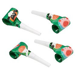 Farm Fun Noisemaker Party Blowers - 30cm