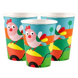 Farm Fun - 256ml Paper Party Cups