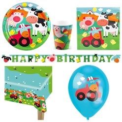 Farm Fun Party Pack - Deluxe Pack for 8