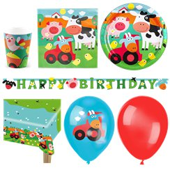 Farm Fun Party Pack - Deluxe pack for 16