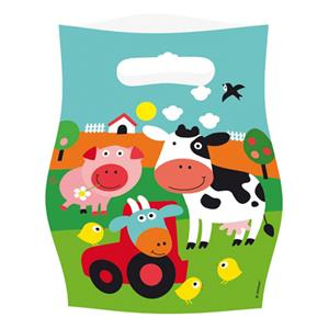 Farm Fun Party Bags - Plastic Loot Bags