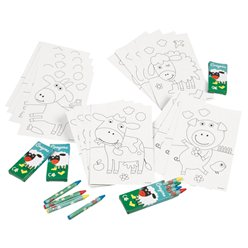 Farm Fun Colouring Set