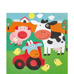 Farm Fun Napkins - 2ply Napkins