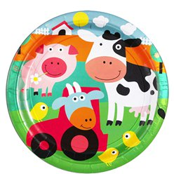 Farm Fun - 23cm Paper Party Plates