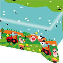 Farm Fun Plastic Tablecover - 1.2m x 1.8m