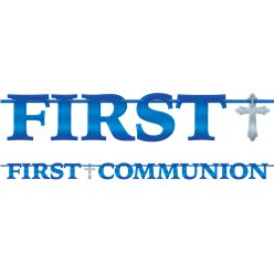 First Communion Foil Letter Banner - 3.65m