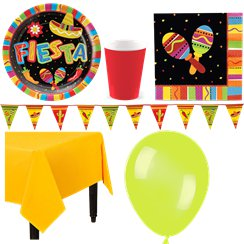 Mexican Fiesta Party Pack - Deluxe Pack for 8