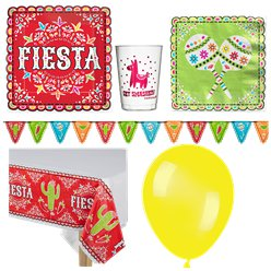 Mexican Fiesta Party Pack - Deluxe Pack For 18