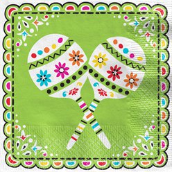 Mexican Fiesta Lunch Napkins - 33cm