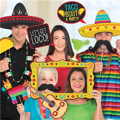 Mexican Fiesta Deluxe Jumbo Photo Props