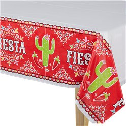 Mexican Fiesta Tablecover - 1.37m x 2.59m Plastic