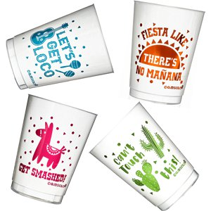 Mexican Fiesta Tumblers - 295ml Plastic Glasses