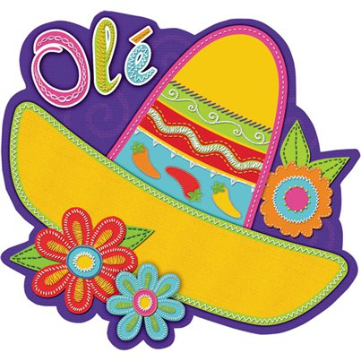 Sombrero Cutout Decoration - 20cm