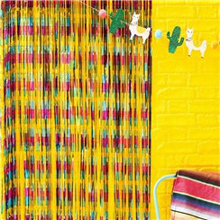 Fiesta Foil Curtain Backdrop - 90cm x 240cm