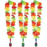 Flower Lei with Wooden Maraca