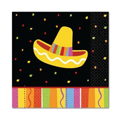 Fiesta Party Beverage Napkins - 25cm