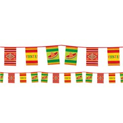 Mexican Fiesta Paper Bunting - 10m