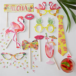 Flamingo Fun Photo Booth Props