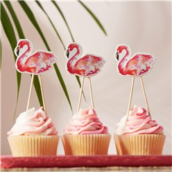 Flamingo Fun Cake Toppers - 12.5cm