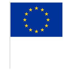 "European Union Hand Flag - 9""x6"""
