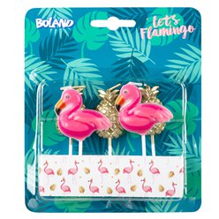 Flamingo & Pineapple Candles