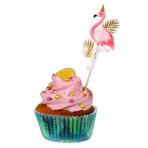 Flamingo Paper Cupcake Cases