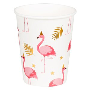 Flamingo Paper Cups - 250ml
