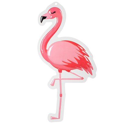 Flamingo PVC Wall Decoration - 50cm x 30cm