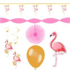Flamingo Deluxe Decoration Kit
