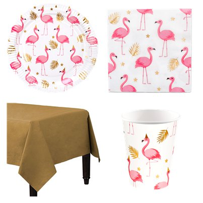 Flamingo Deluxe Party Kit for 12