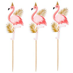 Flamingo Wooden Cocktail Sticks