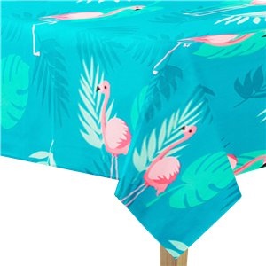 Flamingo Plastic Tablecover - 1.8m x 1.3m