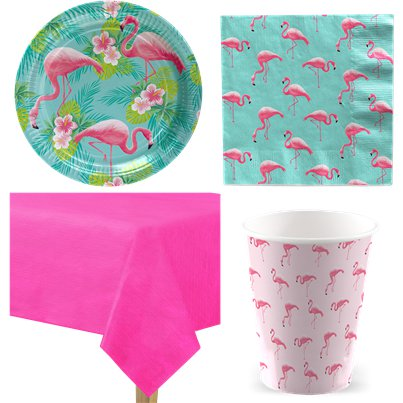 Flamingo Paradise Party Pack - Value Pack For 8