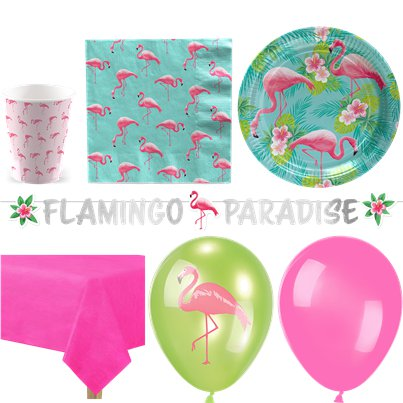 Flamingo Paradise Party Pack - Deluxe Pack For 16