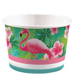 Flamingo Paradise Paper Ice Cream Tubs - 270ml