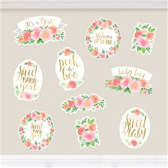 Floral Baby Cutout Decorations