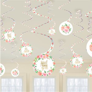 Floral Baby Room Decorating Kit - 51 Pieces