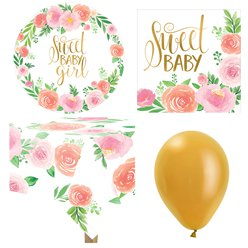 Floral Baby Party Pack - Value Pack For 8