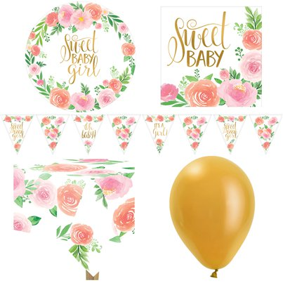 Floral Baby Party Pack - Deluxe Pack For 8