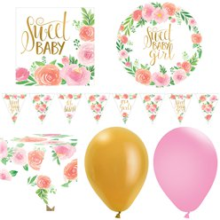 Floral Baby Party Pack - Deluxe Pack For 16